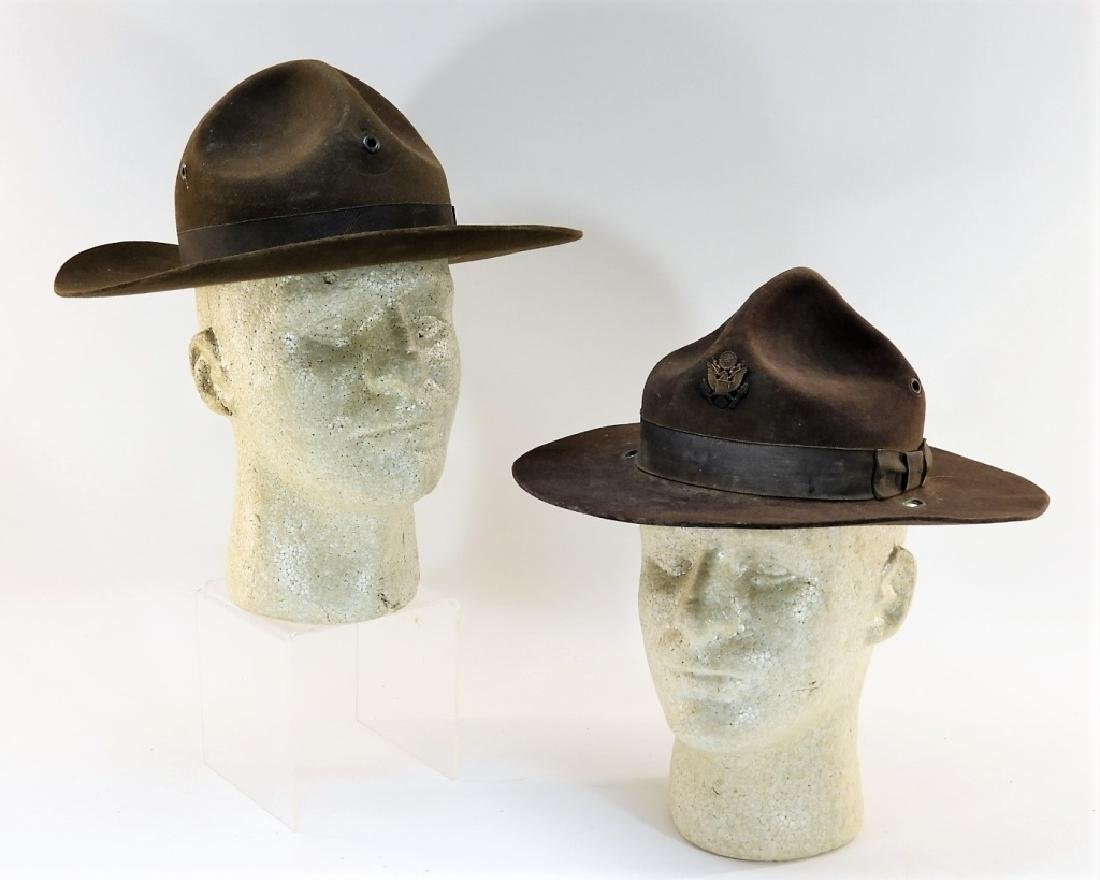 WWII U.S. Army Campaign Hats (2)