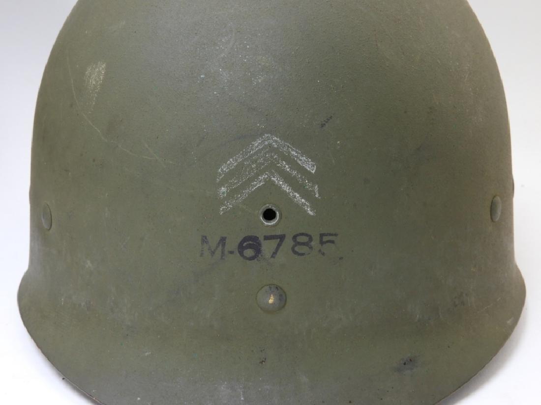 WWII U.S. Army M1 Helmet with Netting - 10