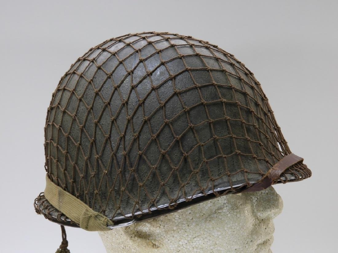 WWII U.S. Army M1 Helmet with Netting - 3
