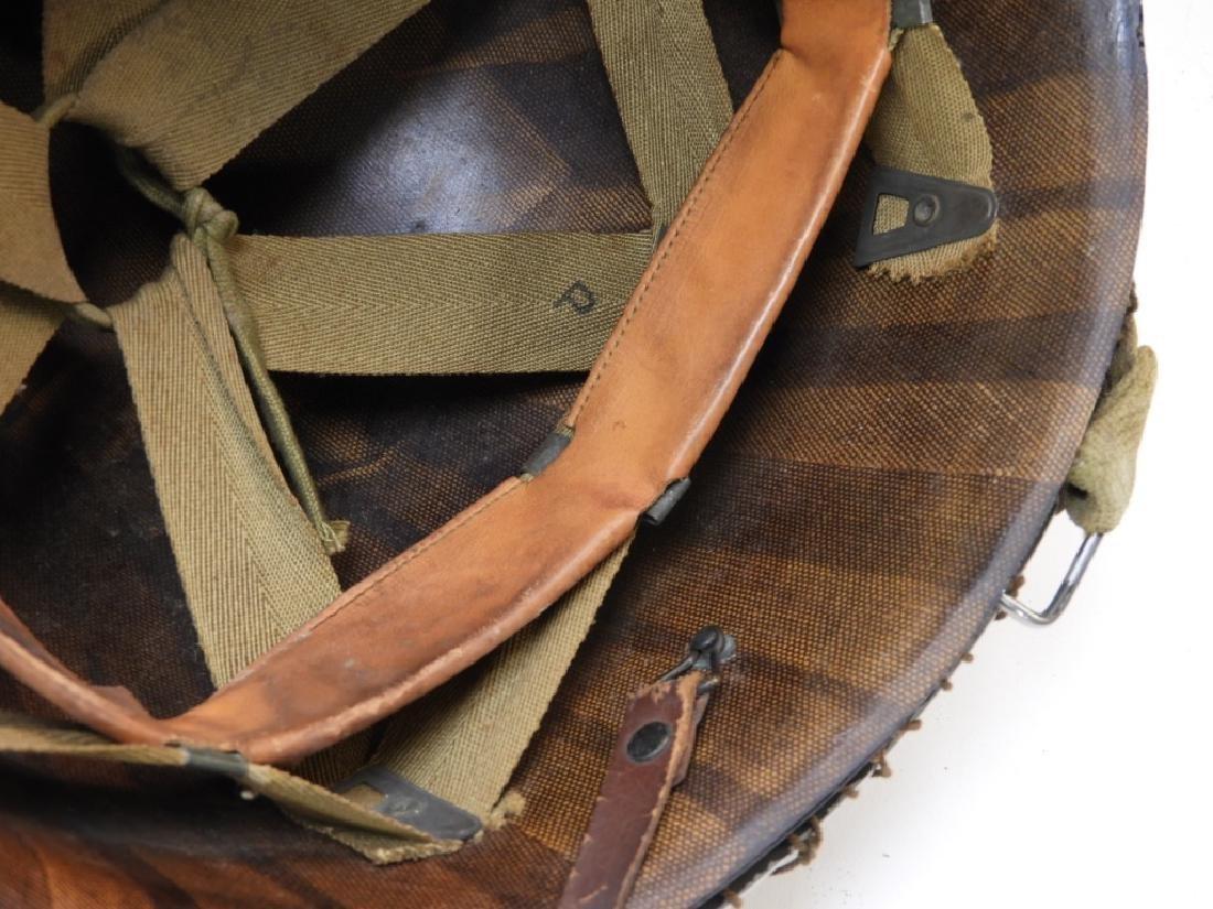WWII U.S. Army M1 Helmet with Netting - 6