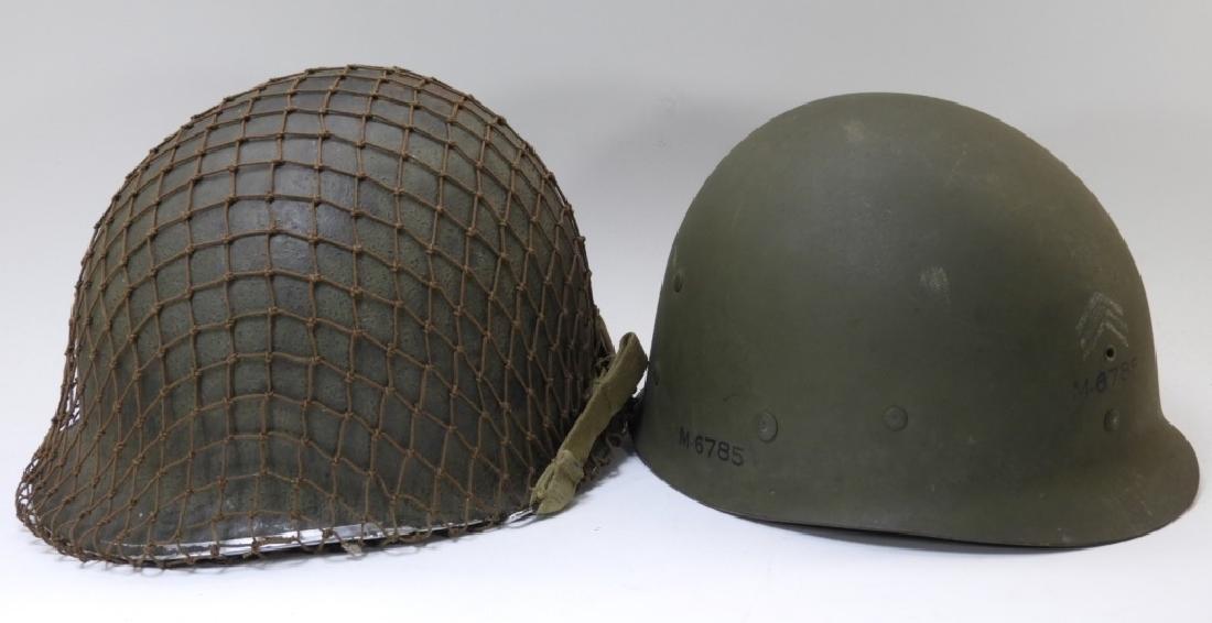 WWII U.S. Army M1 Helmet with Netting - 7