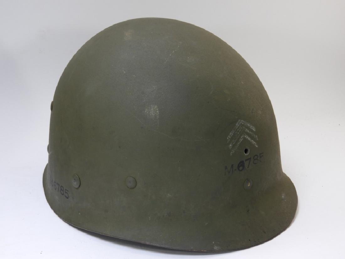 WWII U.S. Army M1 Helmet with Netting - 9