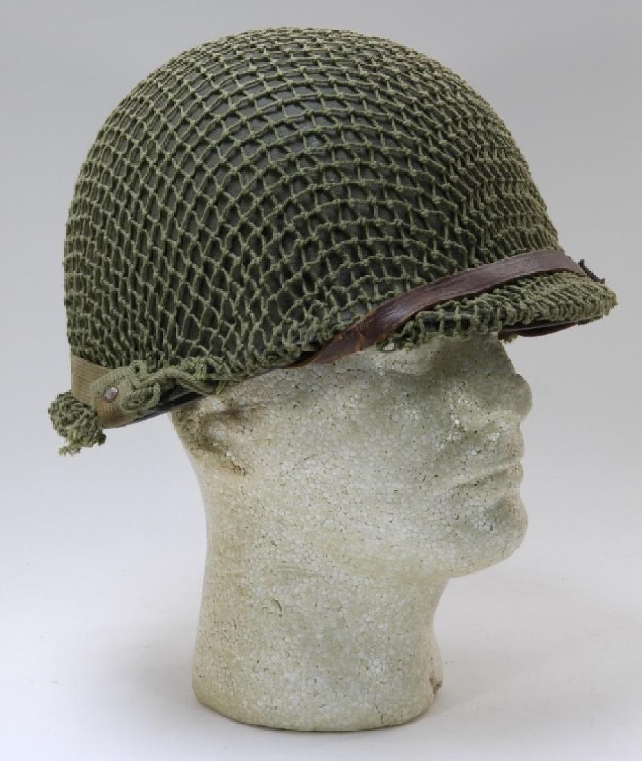 WWII U.S. Army M1 Helmet with Netting