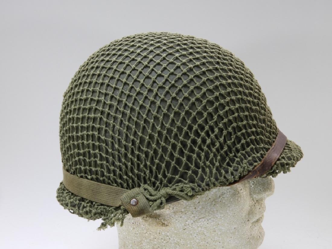 WWII U.S. Army M1 Helmet with Netting - 2