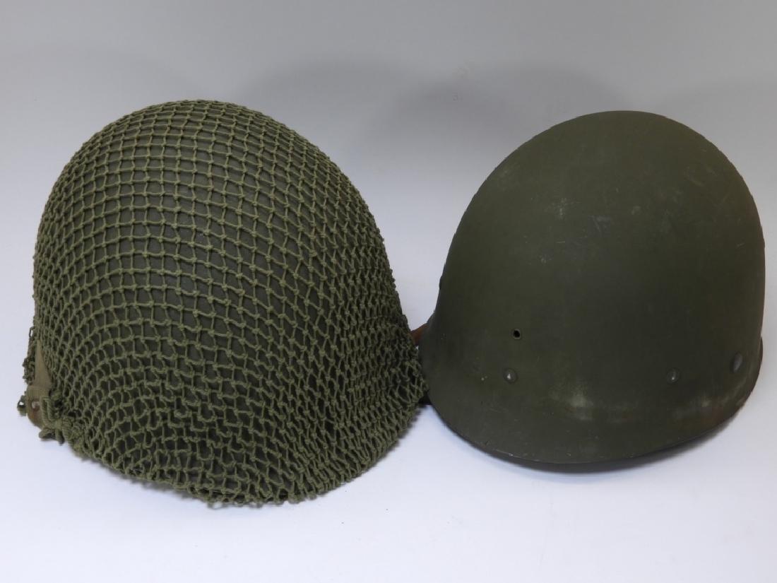 WWII U.S. Army M1 Helmet with Netting - 5