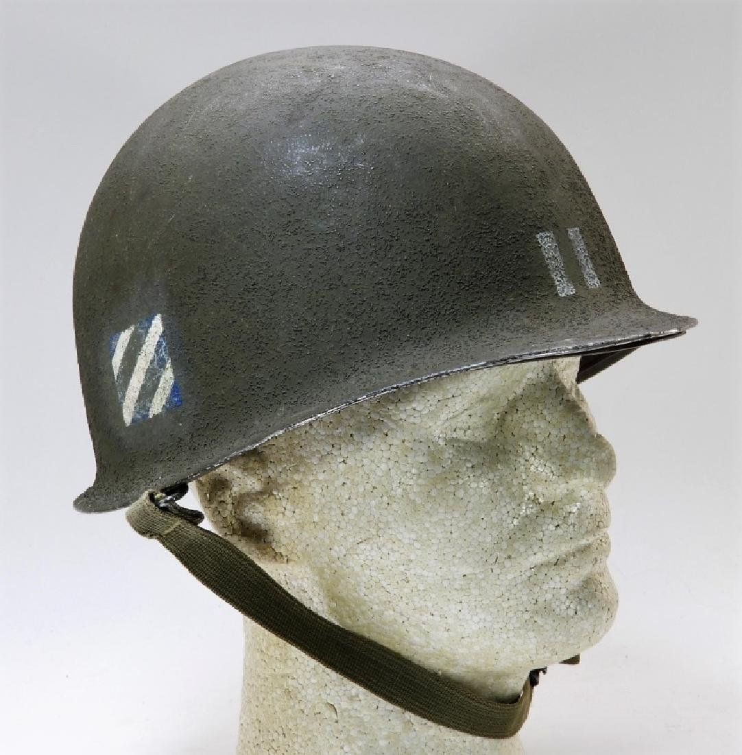 WWII U.S. Army M1 Captains Helmet 3rd Division