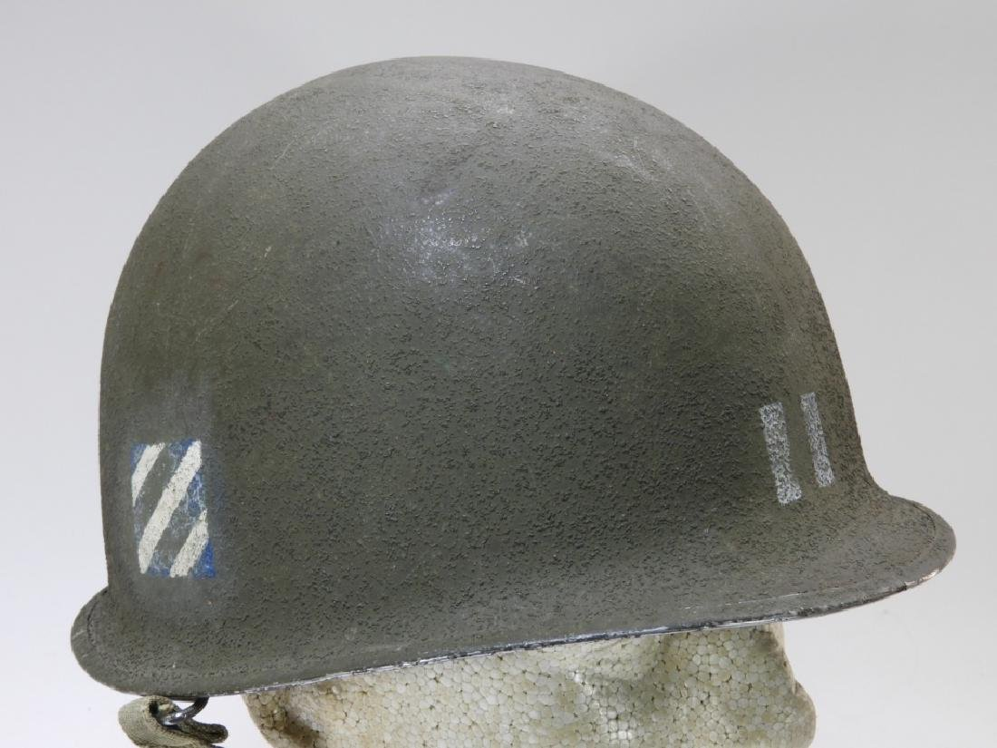 WWII U.S. Army M1 Captains Helmet 3rd Division - 2