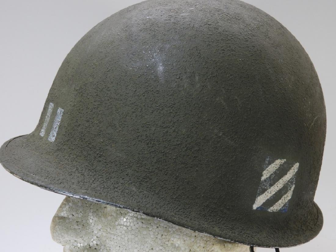 WWII U.S. Army M1 Captains Helmet 3rd Division - 4