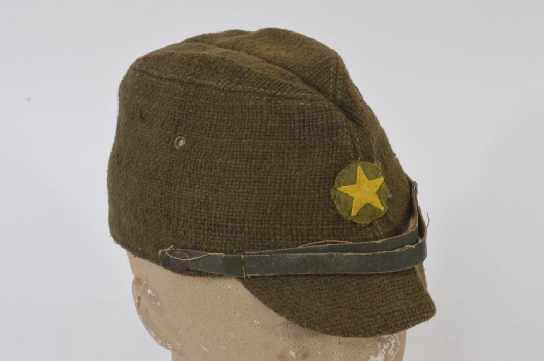 WWII Japanese Army Green Soft Cap - 2