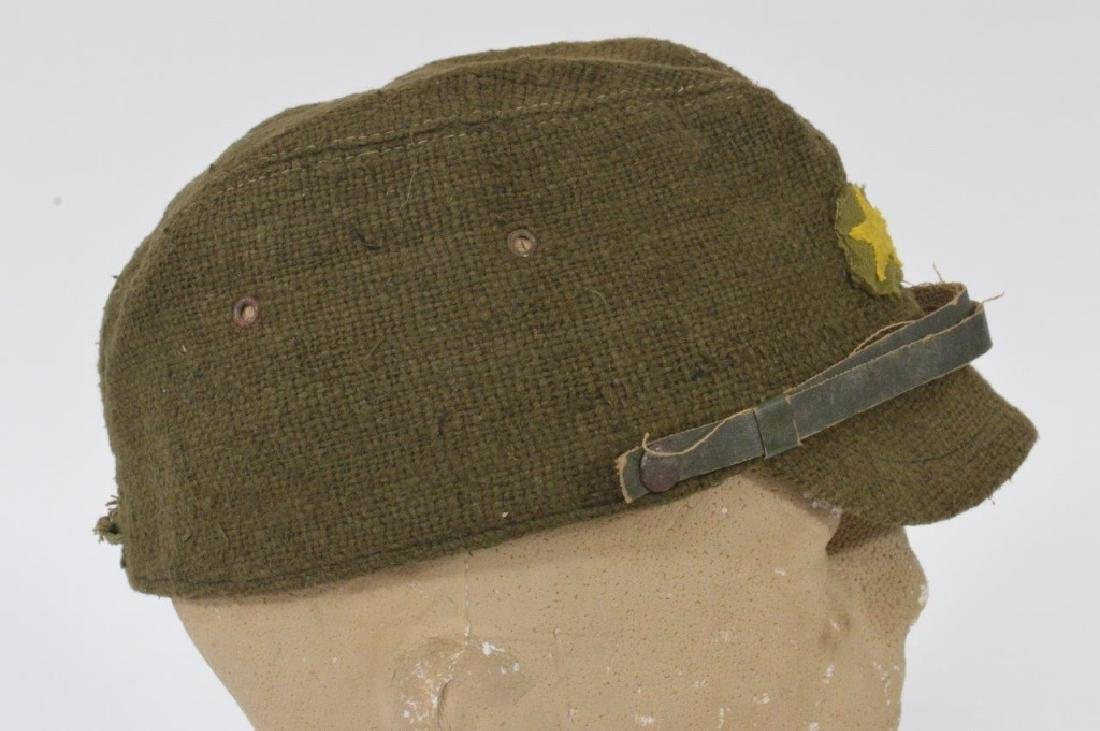 WWII Japanese Army Green Soft Cap - 3