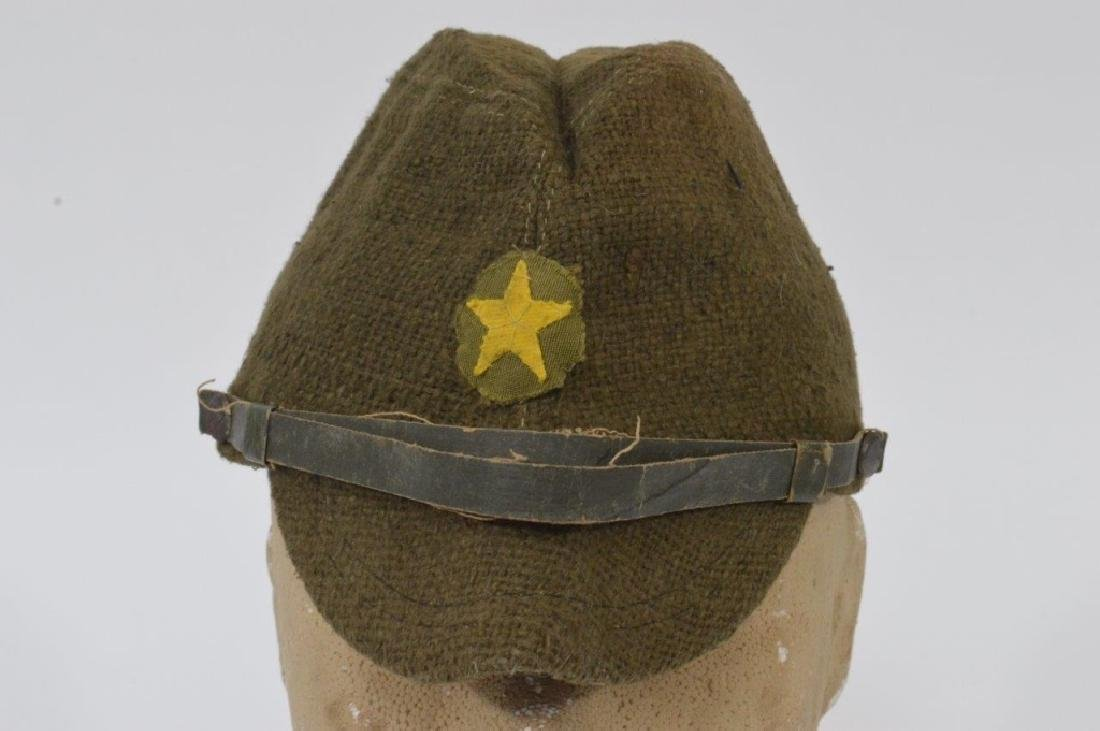 WWII Japanese Army Green Soft Cap - 4