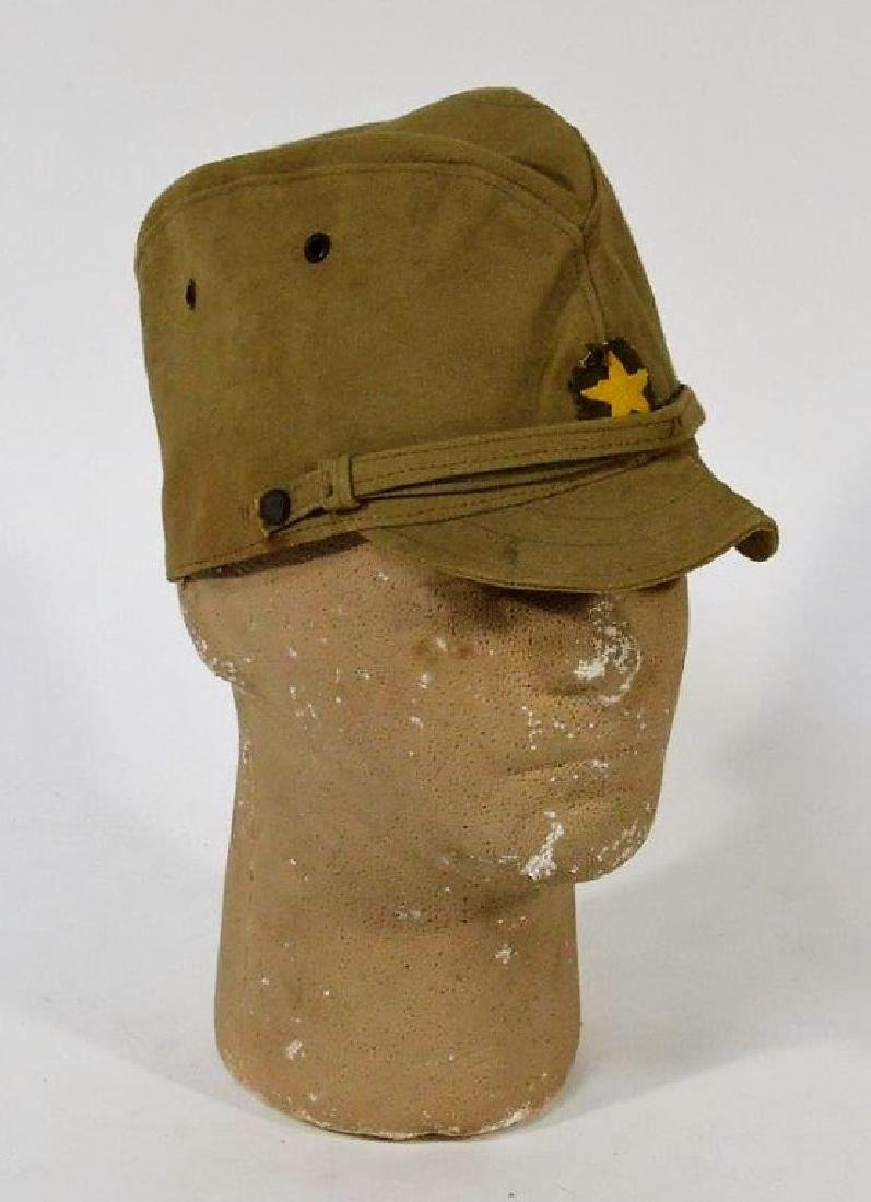 WWII Japanese Army Tan Summer Soft Cap