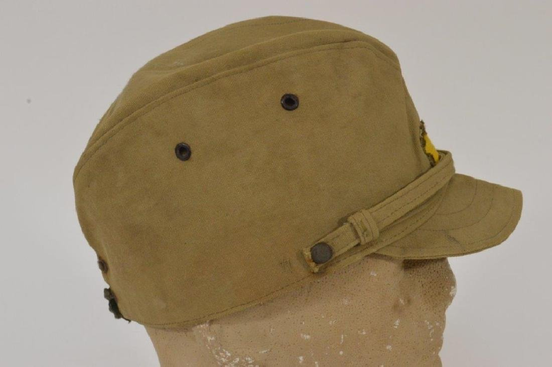 WWII Japanese Army Tan Summer Soft Cap - 4