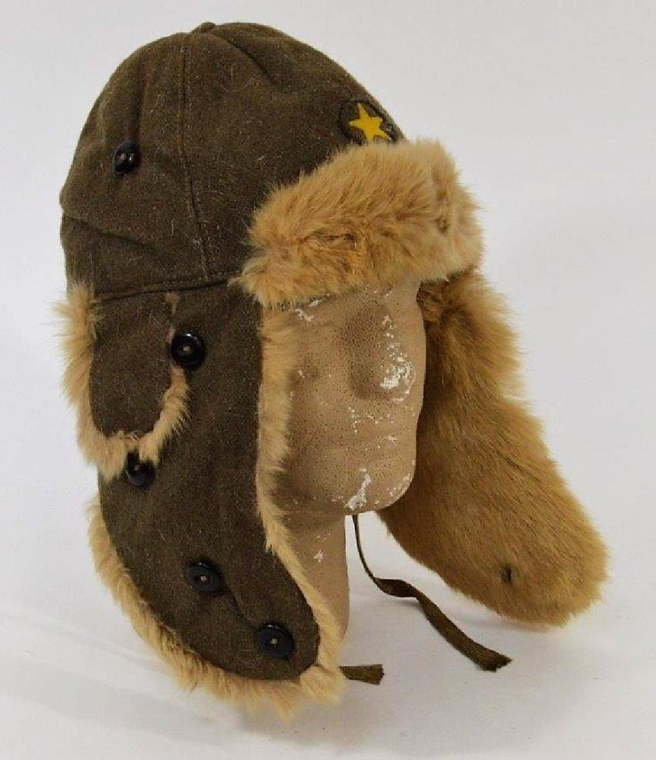 WWII Japanese Army Winter Fur Hat