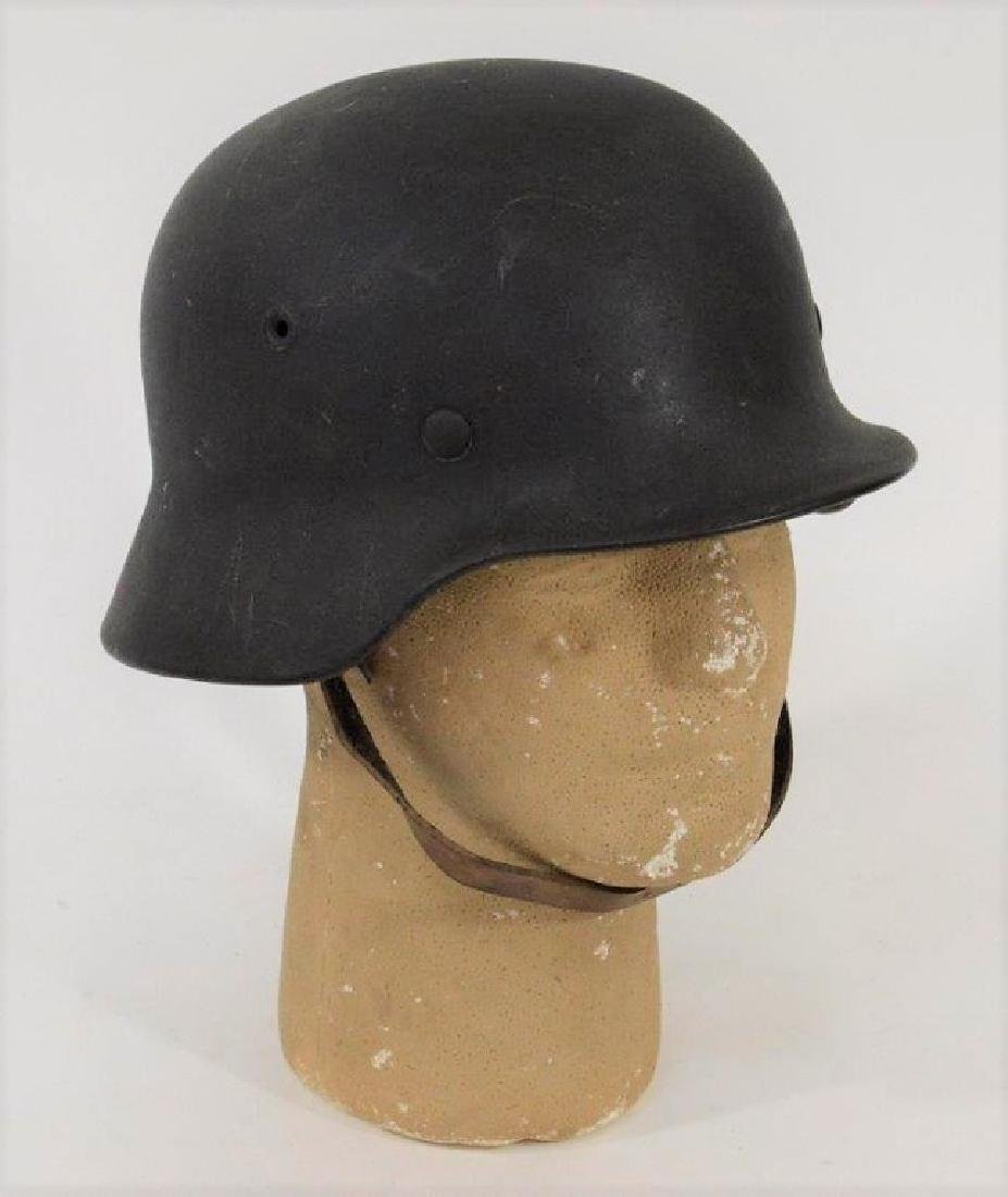 WWII German Single Decal Army M40 ID'd Helmet