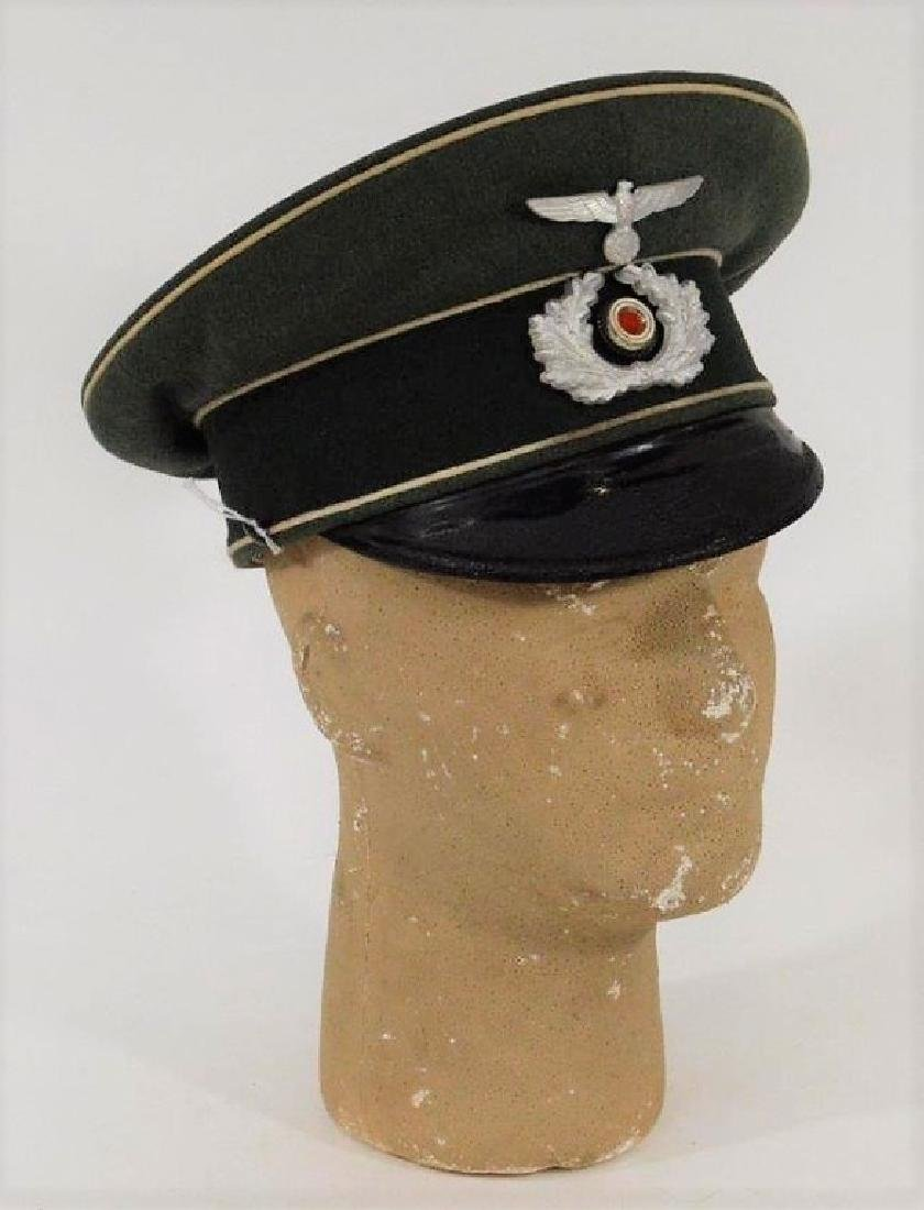 WWII German Army Infantry Officers Visor Cap