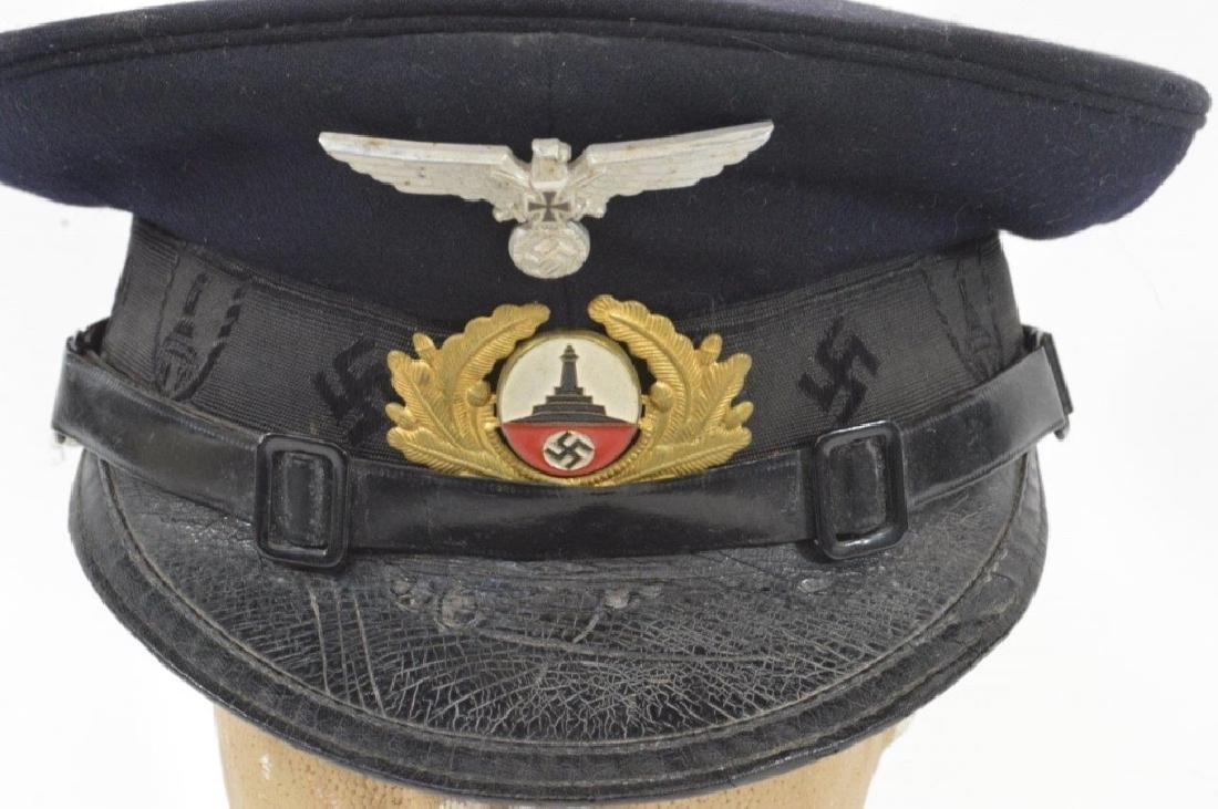 WWII German DRKB Veterans Visor Cap 2nd Pattern - 6