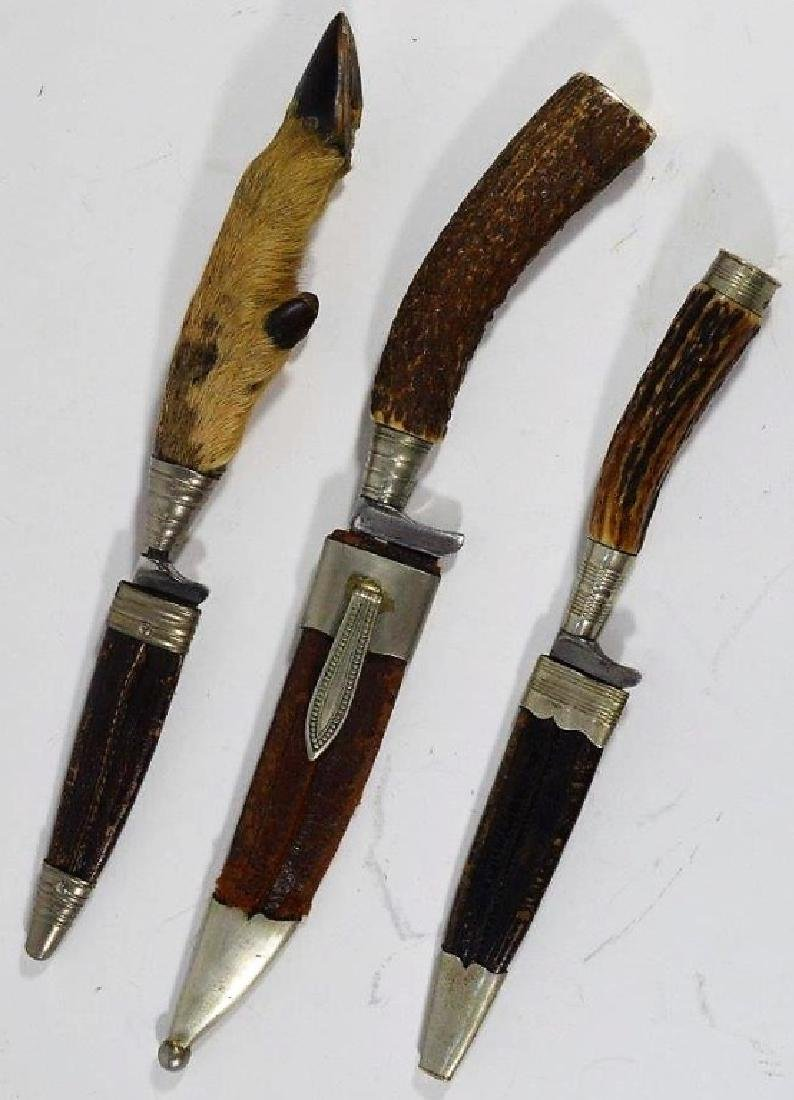 German Stag & Hoof Handle Hunting Knives (3)