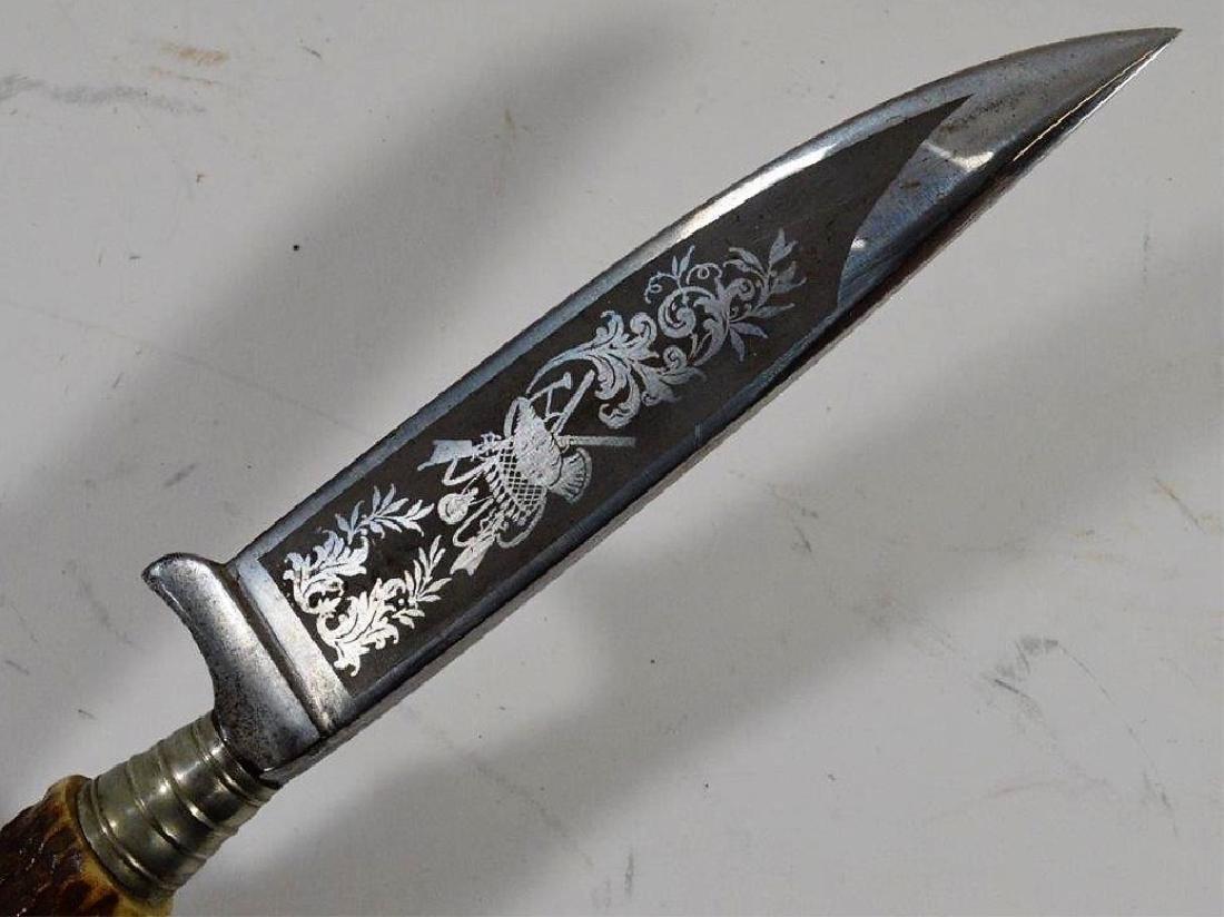 German Stag & Hoof Handle Hunting Knives (3) - 3