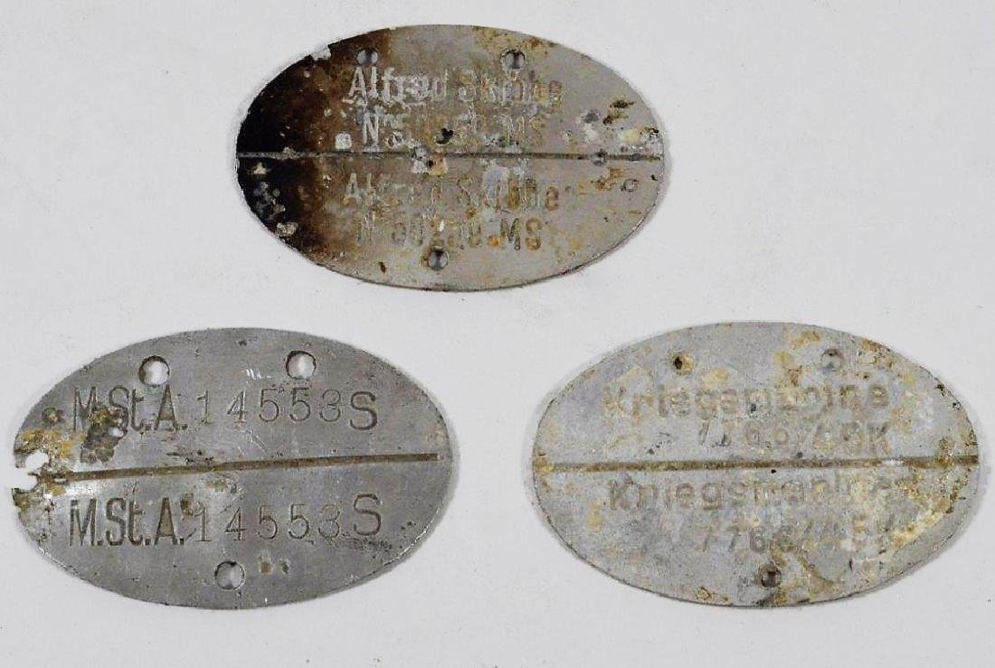 WWII German Army and Navy Dog Tags (3)