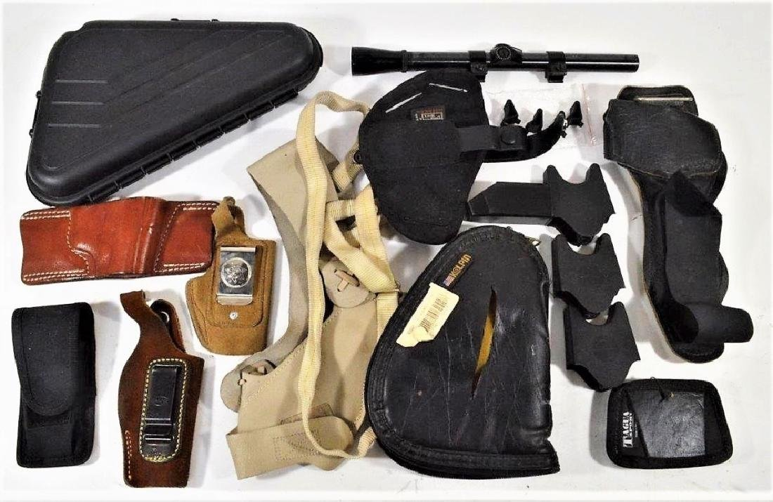 Assorted Pistol Holsters and Accessories