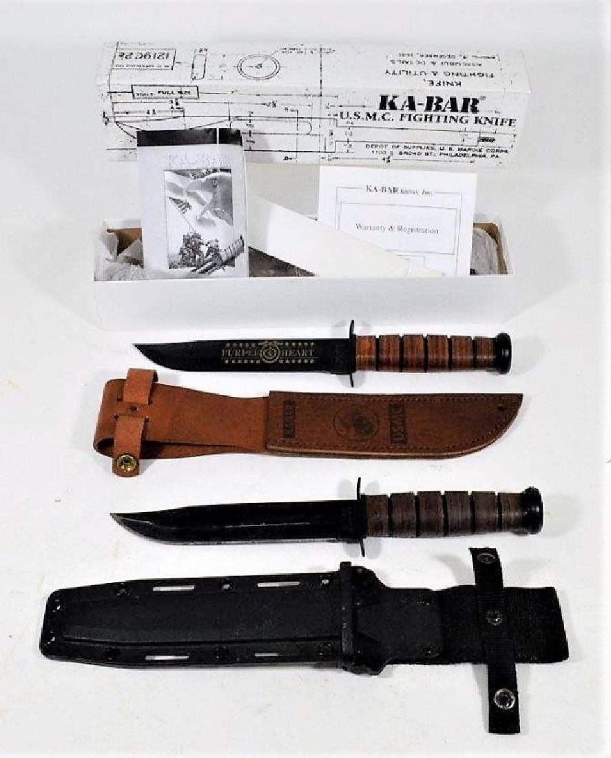 USMC & Army KA-BAR Fighting Knives (2)