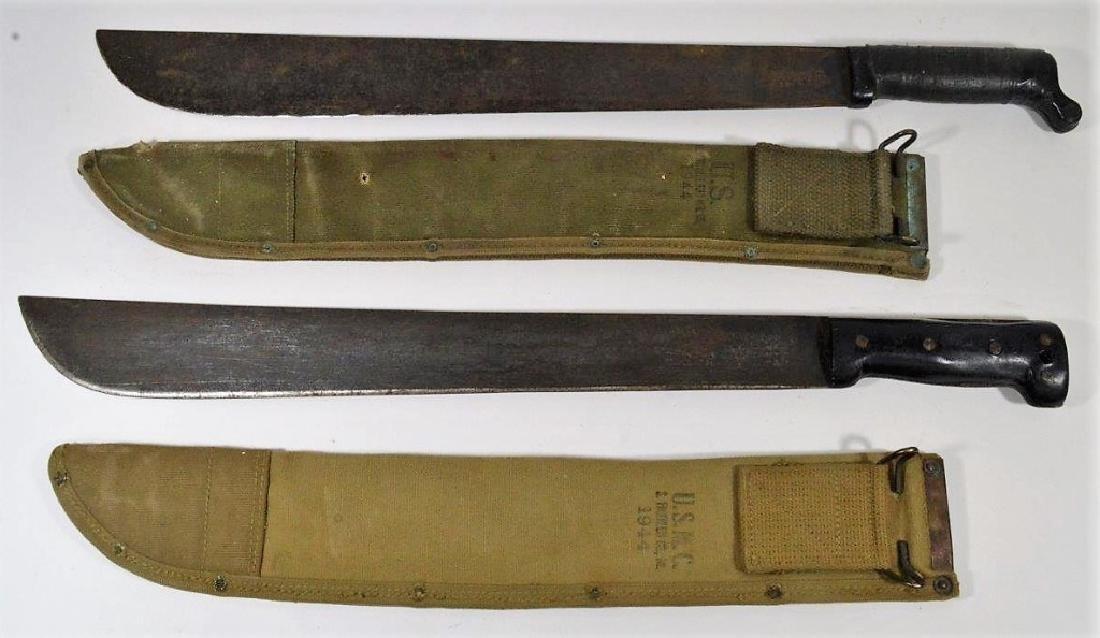 WWII U.S. ARMY & USMC Machete's