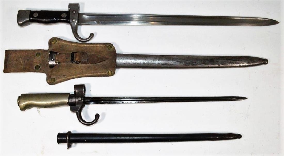 French M1892 Berthier & M1886 Lebel Bayonets
