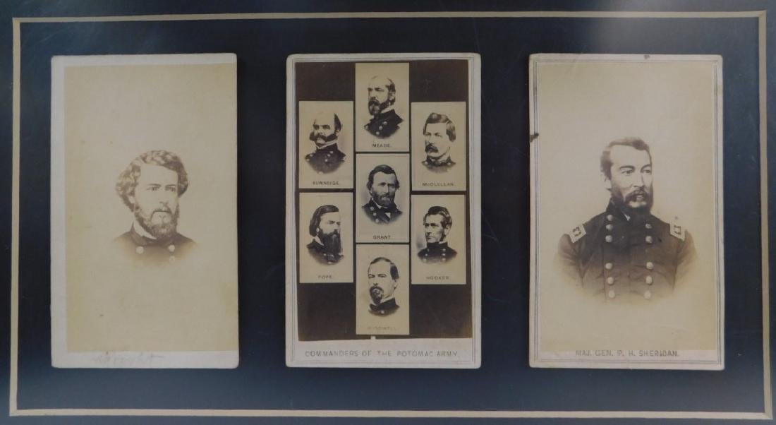 Civil War CDV Photographs of Union Generals (3)