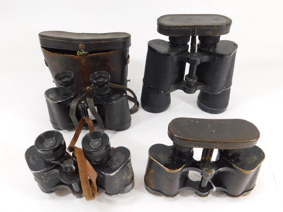 WWII German Field Binoculars 1) in Leather Case 4