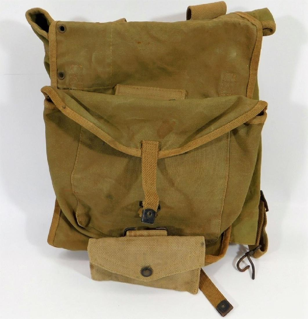 WWII British Made for U.S. Army M1928 Pack & Pouch