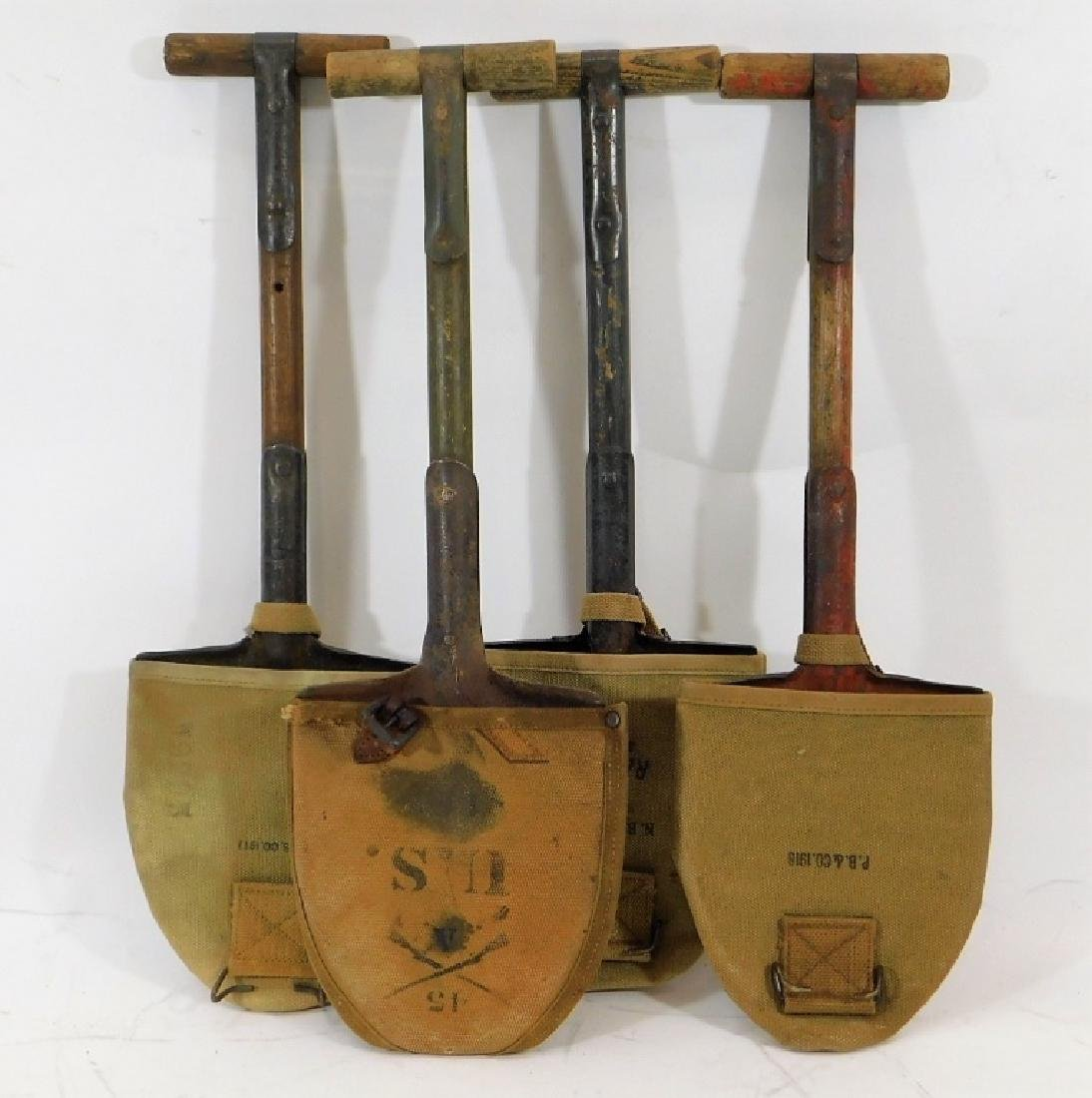 WWI U.S. Army M1910 Trench Shovels (4)