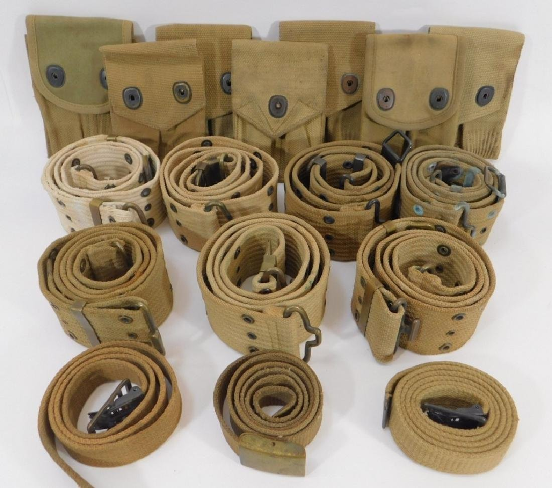 WWI U.S. Army Web Belts and 45Cal Magazine Pouches