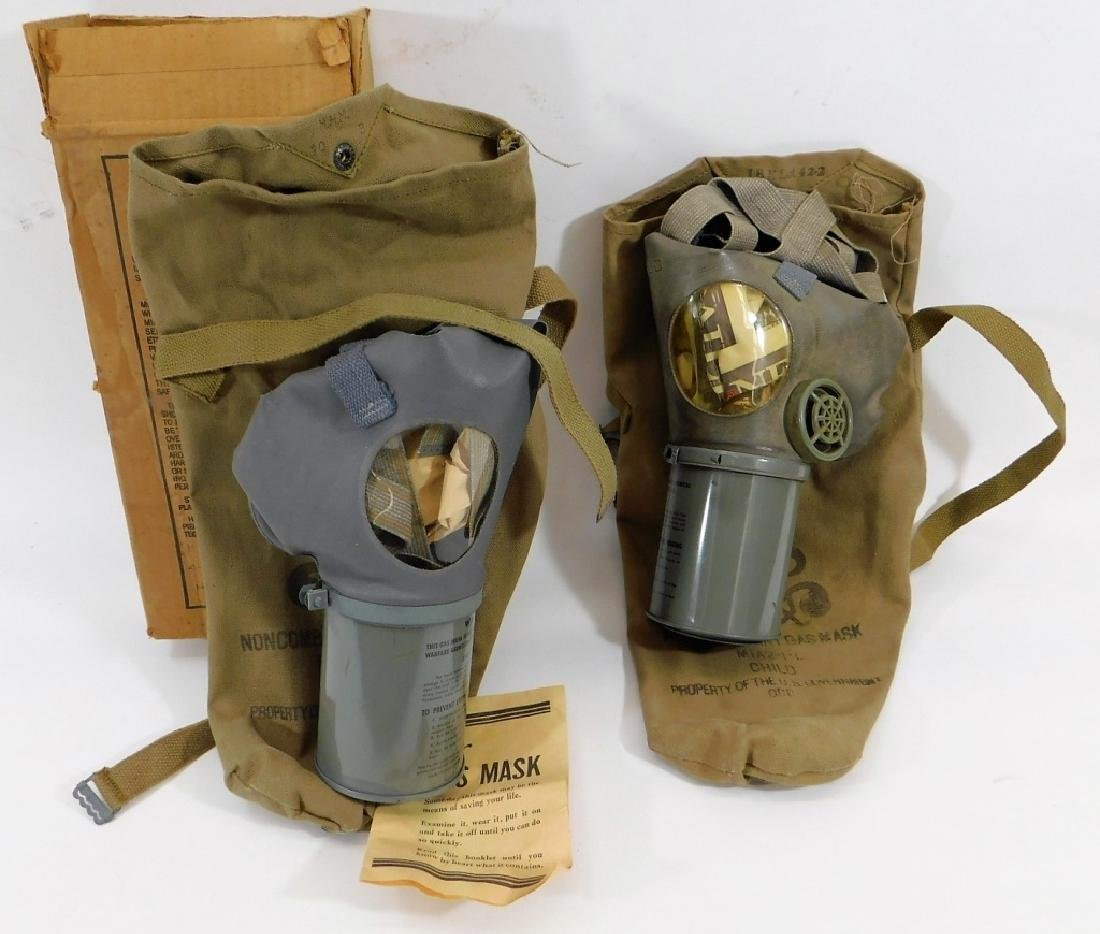 WWII Home Front Child's Gas Masks (2)