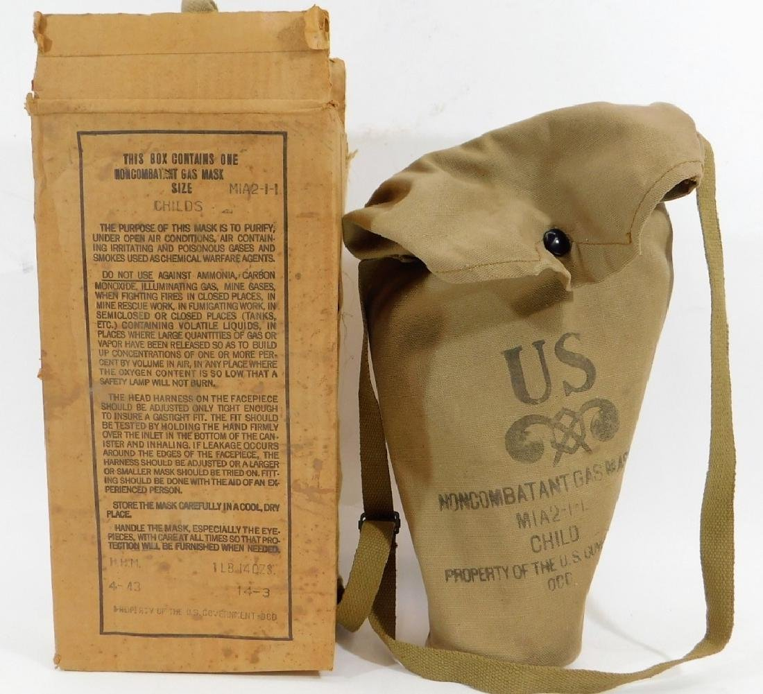 WWII Home Front Child's Gas Masks (2) - 2