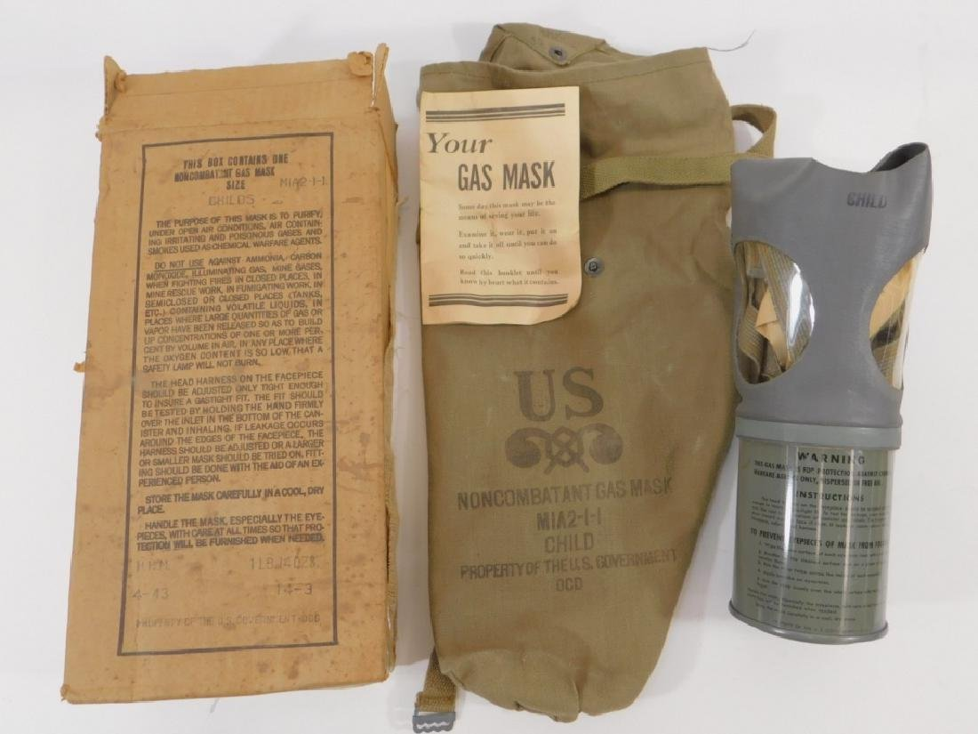 WWII Home Front Child's Gas Masks (2) - 4