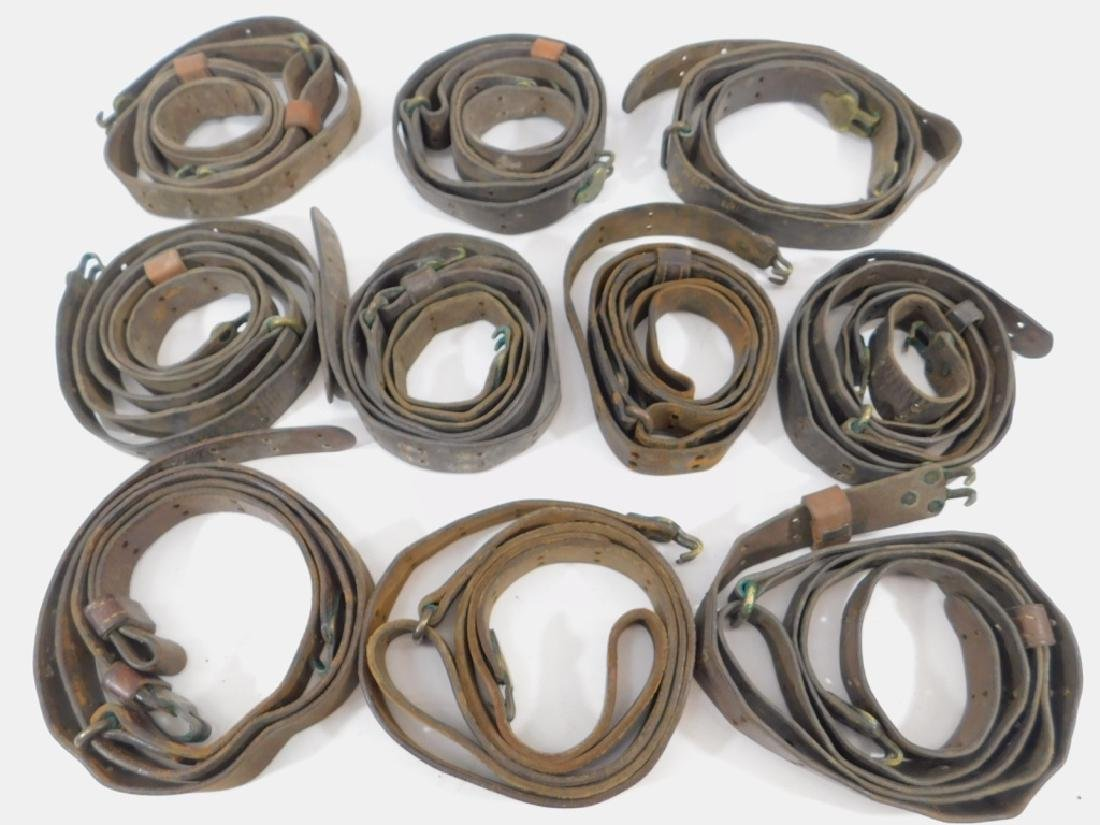 WWI - WWII M1907 Leather Rifle Slings (10)
