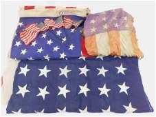 WWII  Present Day Collection of American Flags