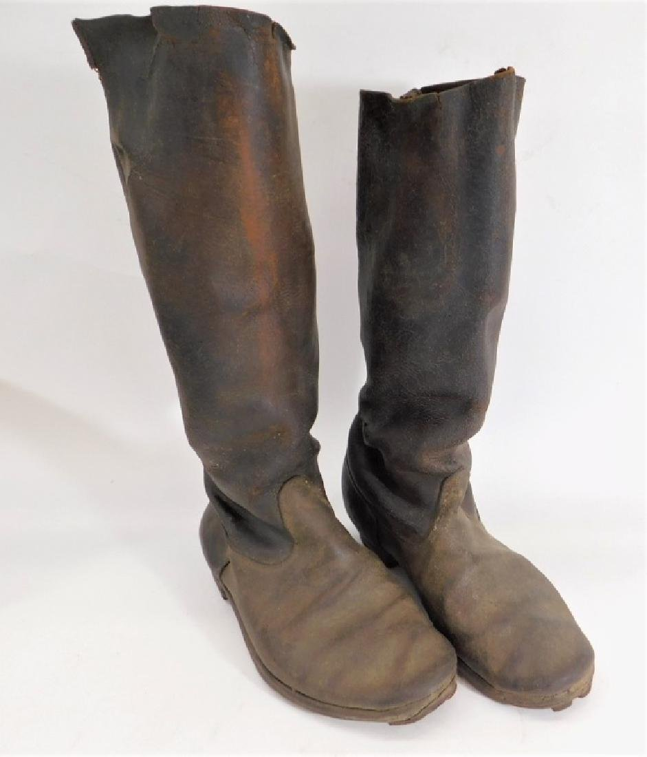 1880-1910 Japanese Leather Cavalry Boots