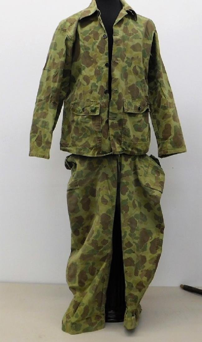 WWII U.S. Army Camouflage HBT Combat Shirt & Pants