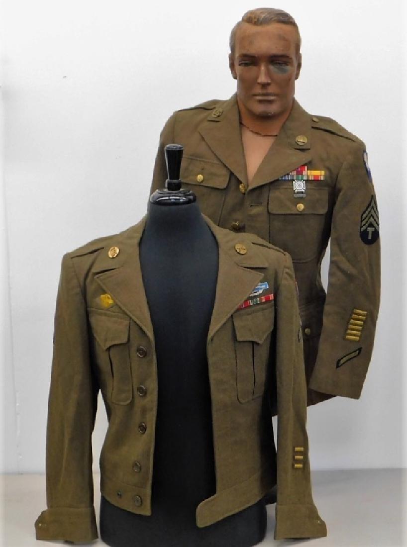 WWII U.S. Army Uniform Tunic & Ike Jacket