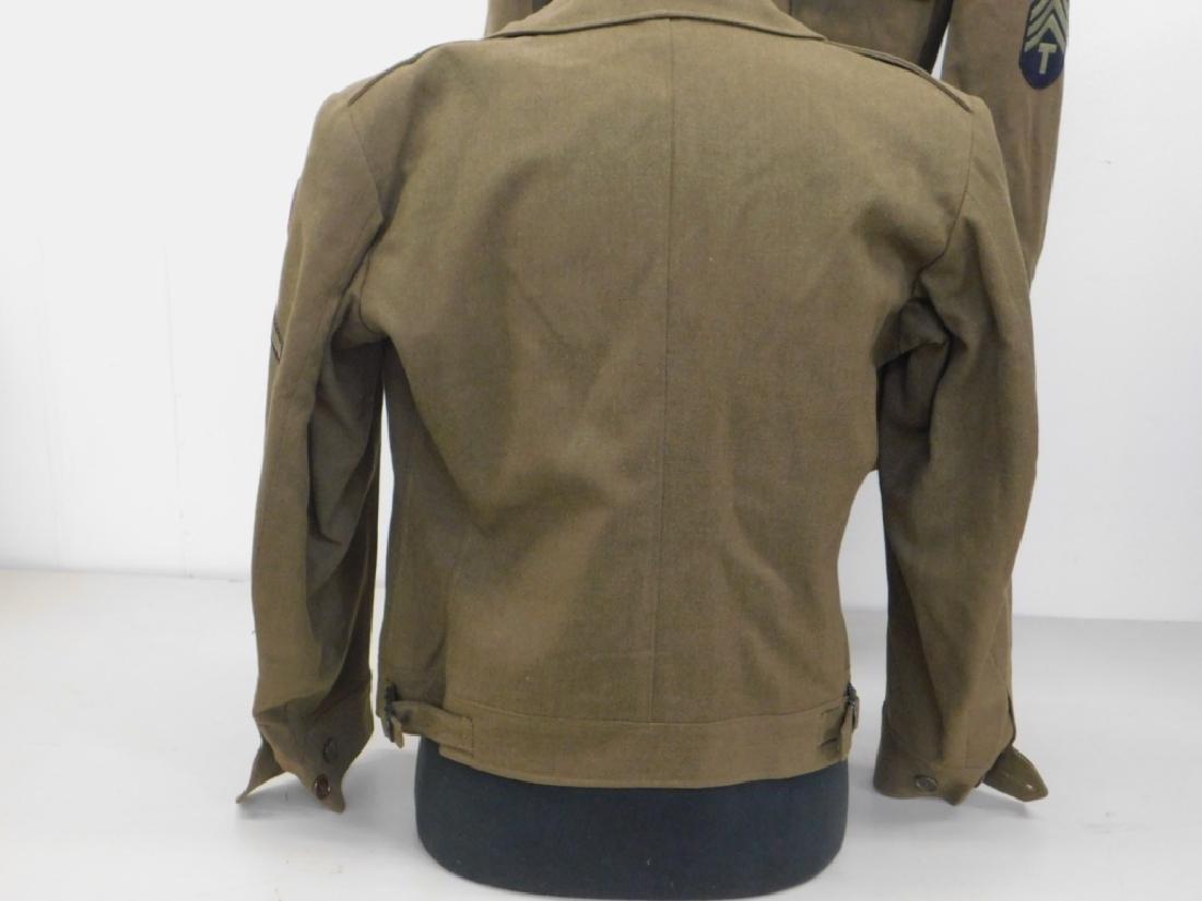 WWII U.S. Army Uniform Tunic & Ike Jacket - 3