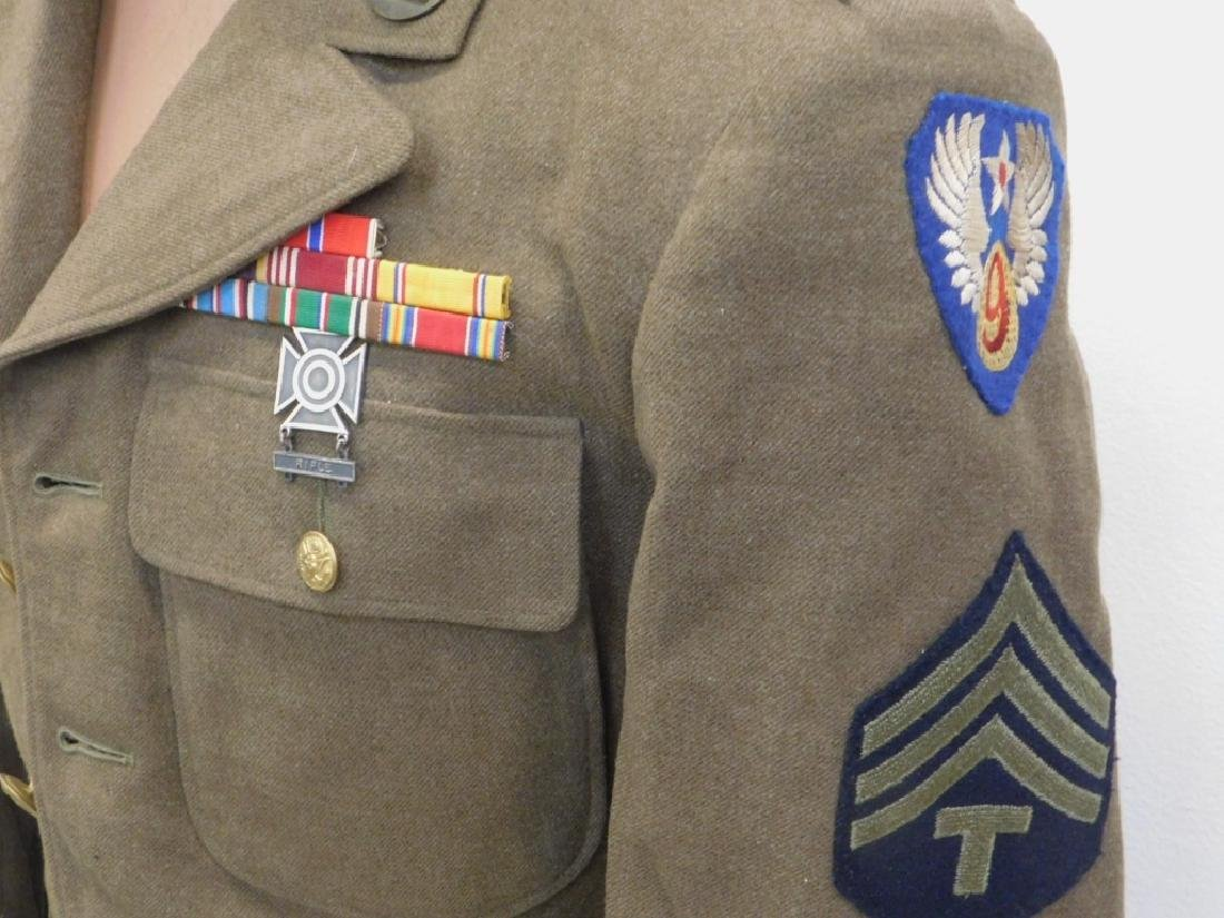 WWII U.S. Army Uniform Tunic & Ike Jacket - 4
