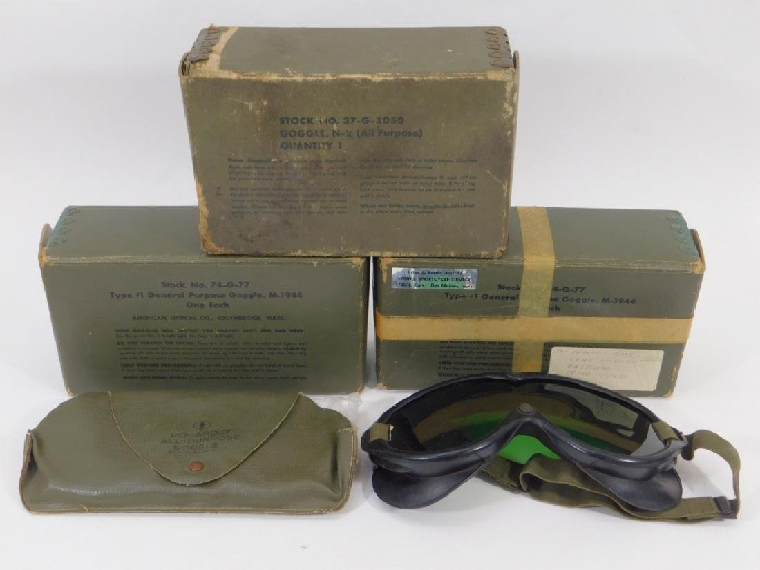 WWII US Army M1944 Goggles (4) Pair