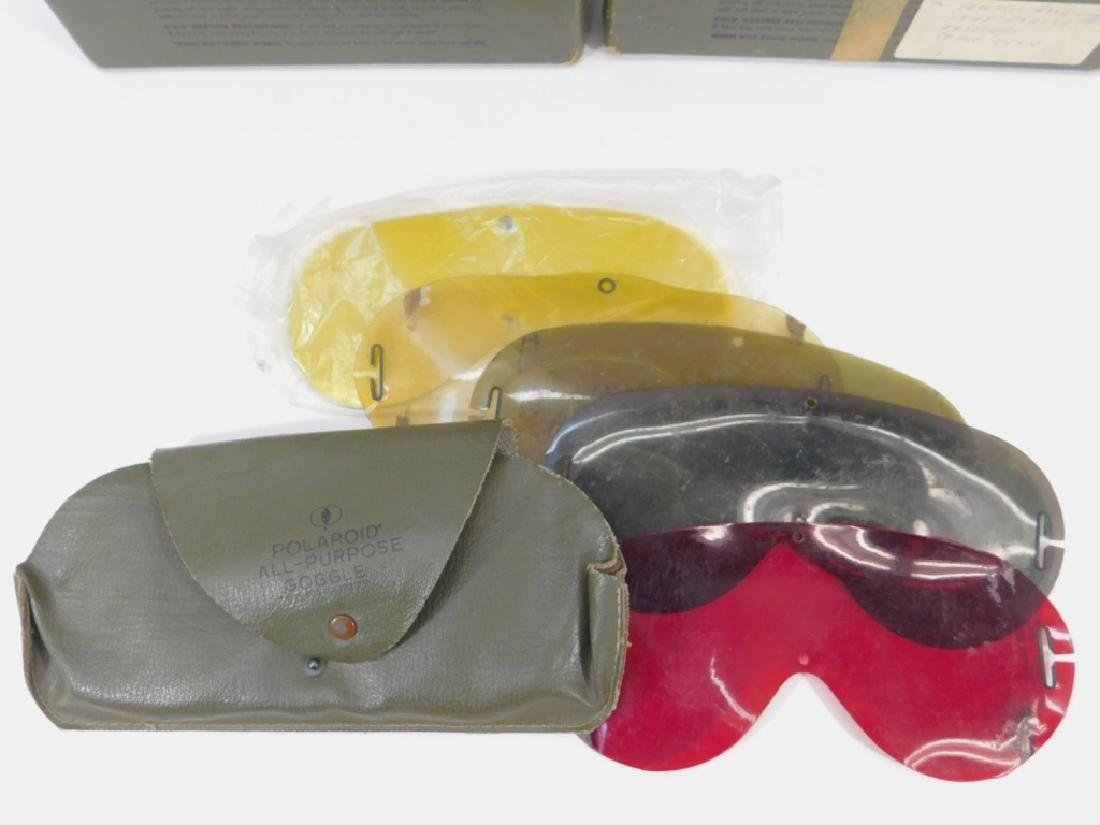 WWII US Army M1944 Goggles (4) Pair - 4