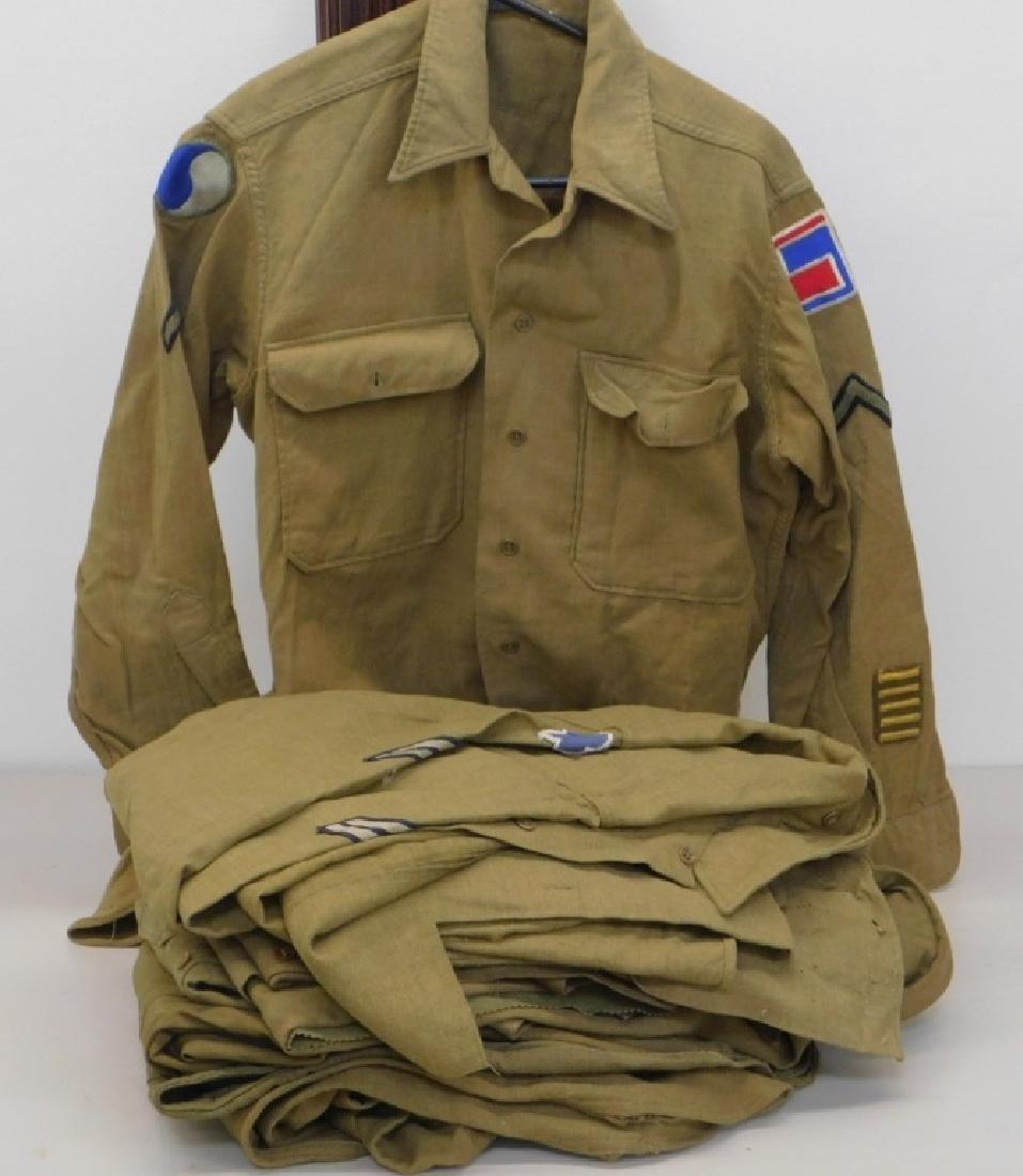WWII U.S. Army Field Shirts 29th Div Insignia
