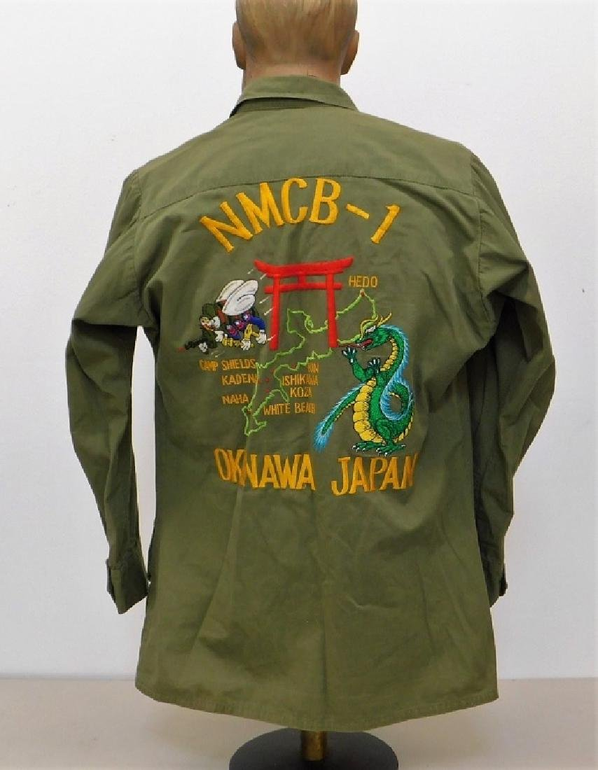 Vietnam War Navy Shirt With CB's Embroidered Back