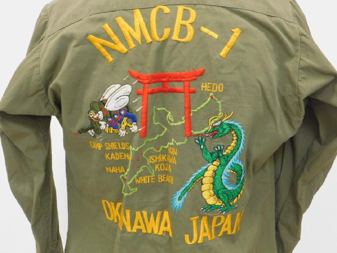 Vietnam War Navy Shirt With CB's Embroidered Back - 2