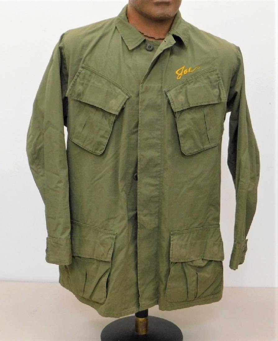 Vietnam War Navy Shirt With CB's Embroidered Back - 3