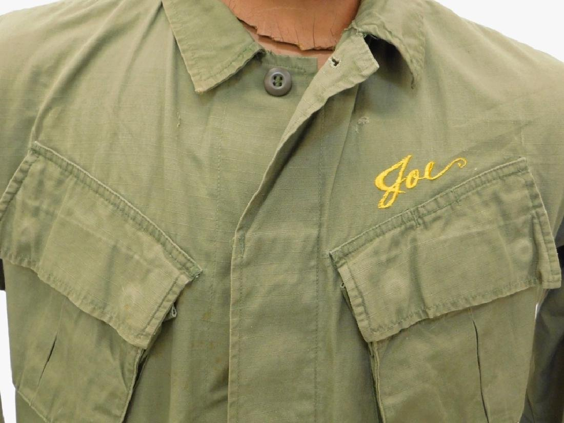 Vietnam War Navy Shirt With CB's Embroidered Back - 4